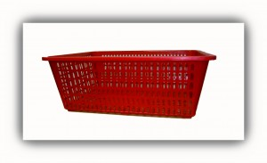 Rectangular Basket-Red
